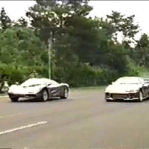 Old School series: Toyota Supra vs Mclaren F1 Drag Race